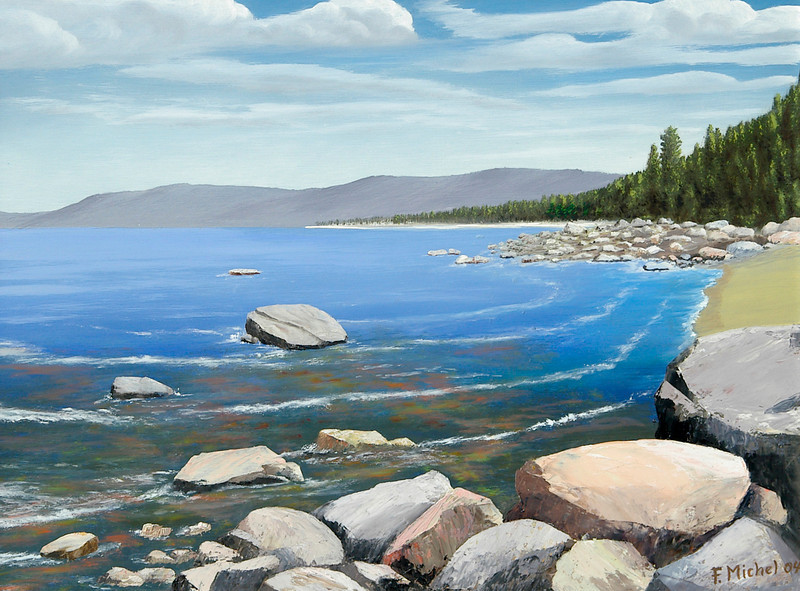 """Lake Tahoe, Nevada<br /> 24""""x 18""""<br /> oil on canvas<br /> 2004"""