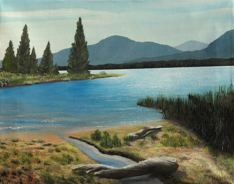 """Frenchmans Lake, CA<br /> 24""""x 18""""<br /> oil on canvas<br /> 2008"""