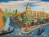 "VENICIAN CANALS IN ELLENSBURG<br /> <br /> Ellensburg, Washington<br /> 24""x 18""<br /> oil on canvas<br /> 2003 (touched up 2008)<br /> <br /> Darlene sister"