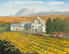 "YELLOW BARN AND SUNFLOWERS<br /> <br /> Thorp, Washington<br /> 20""x 16""<br /> oil on canvas<br /> 2003<br /> <br /> JM"