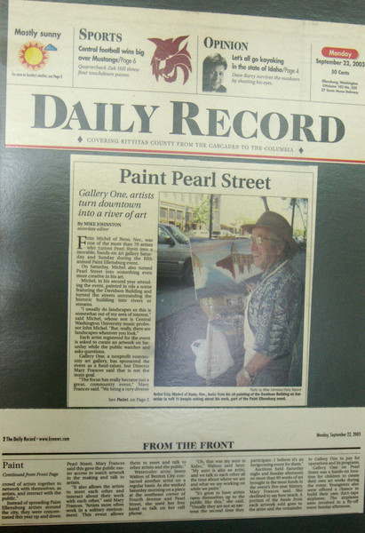 PAINT ELLENSBURG ARTICLE<br /> <br /> Daily Record Newspaper<br /> Ellensburg, Washington
