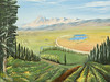 "ORCHARD VIEW OF ELLENSBURG<br /> <br /> Ellensburg, Washington<br /> 24""x 18""<br /> oil on canvas<br /> 2006 (touched up 2008)<br /> <br /> JM"
