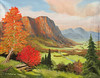 "FALL IN THE VALLEY<br /> <br /> 24""x 18""<br /> oil on canvas<br /> 2008"