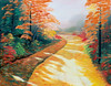 "PATH IN FALL<br /> <br /> 28""x 24""<br /> oil on canvas<br /> 2001"