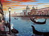 "VENICE GONDOLA ROMANCE<br /> <br /> Venice, Italy<br /> 24""x 18""<br /> oil on canvas<br /> 2002"