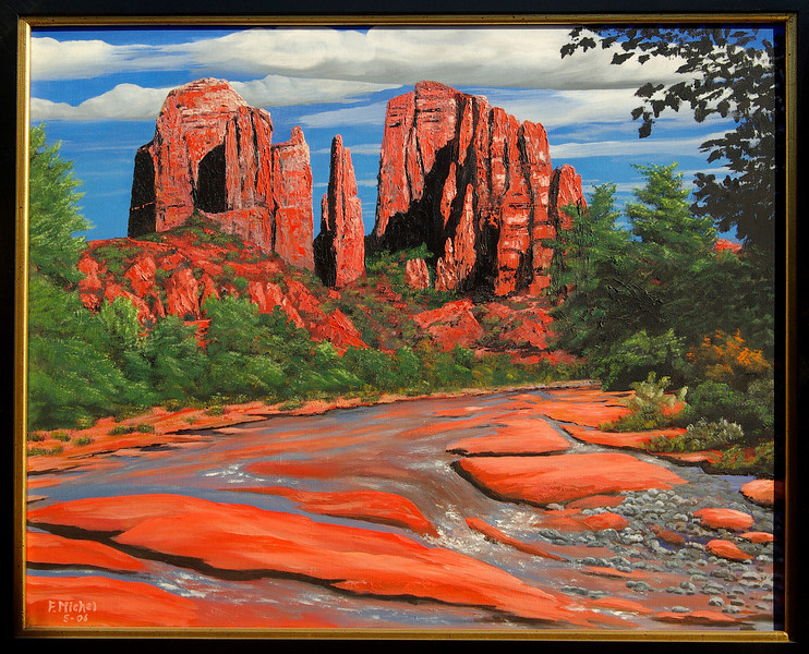 """THE CATHEDRAL<br /> <br /> Sedona, Arizona<br /> 30""""x 24""""<br /> oil on canvas<br /> 2006"""