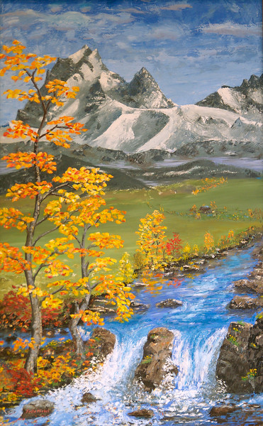 "MOUNT STUART<br /> <br /> Ellensburg, Washington<br /> 36""x 60""<br /> oil on canvas<br /> 1999<br /> <br /> JM"
