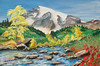 "MOUNT RAINIER<br /> <br /> Rainier, Washington<br /> 30""x 20""<br /> oil on canvas<br /> 2001<br /> <br /> JM"