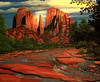 "THE CATHEDRAL IN SUNSHINE<br /> <br /> Sedona, Arizona<br /> 30""x 24""<br /> oil on canvas<br /> 2006"