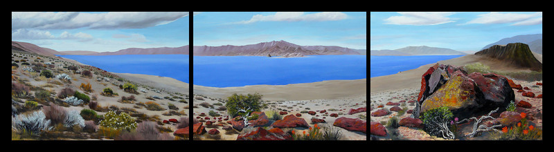 "PYRAMID LAKE PANORAMA<br /> <br /> Pyramid Lake, Nevada<br /> 120""x 36""<br /> oil on canvas<br /> 2007<br /> <br /> (medium resolution version)"