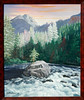"ICICLE CREEK RAPIDS<br /> <br /> Leavenworth, Washington<br /> 24""x 18""<br /> oil on canvas<br /> 2002"