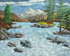 "TRUCKEE RIVER 2006<br /> <br /> second original<br /> Truckee, California<br /> 28""x 24""<br /> oil on canvas<br /> 2006"
