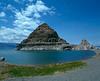 Lake Pyramid island