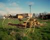 Shaniko yellow hay rake
