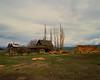 Shaniko cabin and hay pile