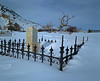 cemetery covered in snow
