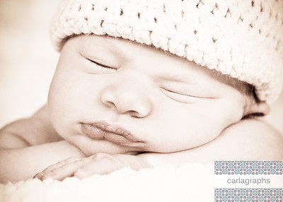 Close Up Smooshy Sleepy Face w Hat Vintage-