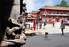 Shrines and dogs are everywhere. Patan, Nepal.