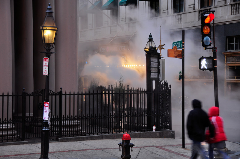 Steam Vents on School Street, Boston.