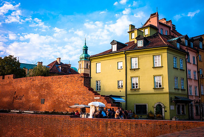 Colorful architecture in Old Warsaw, Poland