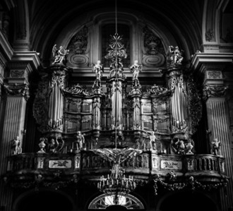 Baroque organ of St-Anne's Church in Old Warsaw, Poland