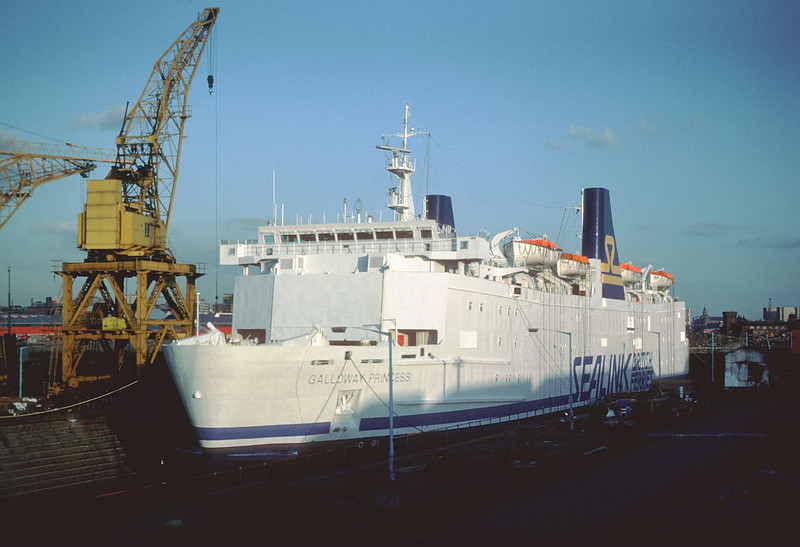 Galloway Princess in No 3 Graving Dock at Govan in 1984.