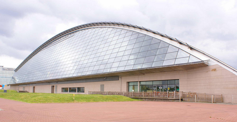 Glasgow Science Centre - the north elevation, facing the River Clyde.