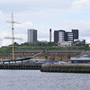 "View from the western extremity of Plantation Quay to the sailing vessel Glenlee berthed at Yorkhill Quay.<br /> <br /> <a href=""http://www.clydesite.co.uk/clydebuilt/viewship.asp?id=14799"">http://www.clydesite.co.uk/clydebuilt/viewship.asp?id=14799</a>"