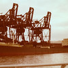 One of the last ships to discharge iron ore at General Terminus - the Onorato on 15th November 1979.