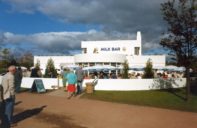 The Broom Milk Bar - based on the Art Deco design of a house in the Newton Mearns district