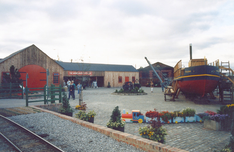 Monklands District boatyard with a replica of the Vulcan - the first vessel to be built of iron in Scotland.