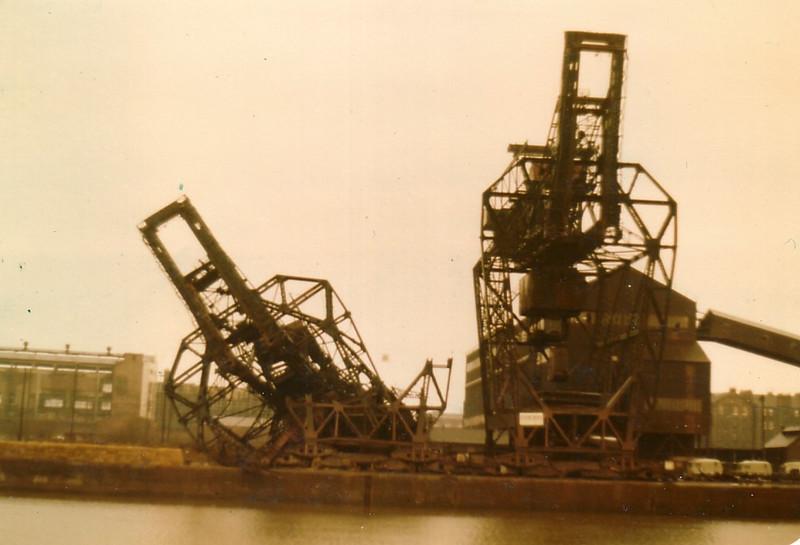 Demolition of the first Arrol-built ore  unloader, 6/1/1981