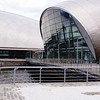 The IMAX cinema at Glasgow Science Centre - the first IMAX to be built in Scotland.<br /> <br /> The IMAX stands on reclaimed land at the west (open) end of the North Basin of the former Princes Dock.