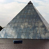 The glass pyramid of Gateshead on Tyneside, to be host of the 1990 Garden Festival.