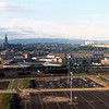 "Views from the Clydesdale Bank Tower looking north with the prominent tower of Glasgow University on Gilmorehill on the left and the towers of Kelvingrove Art Gallery and Museum and the Kelvin Hall below. The tall building of rectangular block construction to the left is the University Library. <br /> <br /> The water tower of Ruchill Hospital breaks above the line of the low hills just right of centre of the picture. It was built to house a water accumulator tank to maintain water pressure to the  hospital, which, as an infectious diseases hospital, was built in an isolated area on top of a hill. The hospital opened in 1900 and closed 98 years later.  A closer view of the Ruchill hospital water tower can be studied at the following link:<br /> <br />  <a href=""http://www.flickr.com/photos/flickrphotos/29833651/sizes/o/in/set-669978/"">http://www.flickr.com/photos/flickrphotos/29833651/sizes/o/in/set-669978/</a><br /> <br /> The distant higher hills are the Campsie Fells."