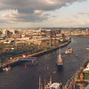 "Another view east along the River Clyde with Bell's Bridge closing after having swung open to allow the paddle steamer Waverley to pass upriver to her base at Anderston Quay. Waverley can be seen in mid river to the right of the Stobcross Crane. <br /> <br /> Since this picture was taken two further bridges have been built across the river - the Millenium Bridge between Stobcross and Plantation Quays (in 2000) and the Clyde Arc between Finnieston Quay and Mavisbank Quay (in 2007). As a result it is not possible for Waverley, the World's Last Seagoing Paddle Steamer, (or any other large vessel) to access the harbour east of Finnieston. Waverley is now based at Plantation Quay beside the Glasgow Science Centre. More information at:<br />  <a href=""http://www.waverleyexcursions.co.uk"">http://www.waverleyexcursions.co.uk</a>"