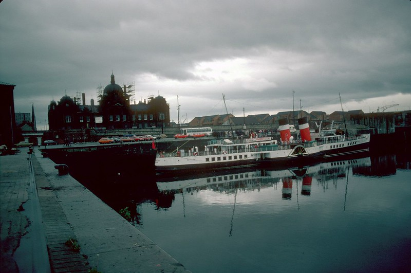 Waverley at Berth No 29 in Prince's Dock - this scene can never be repeated as this part of the Dock has now been infilled for new developments.