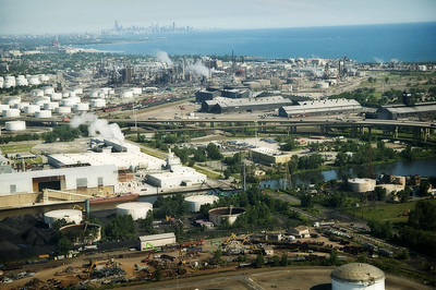 Nestled in the center of this image is the East Chicago Terminal of Four Star Transportation.