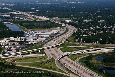 I-80/94 looking West at Cline Ave.