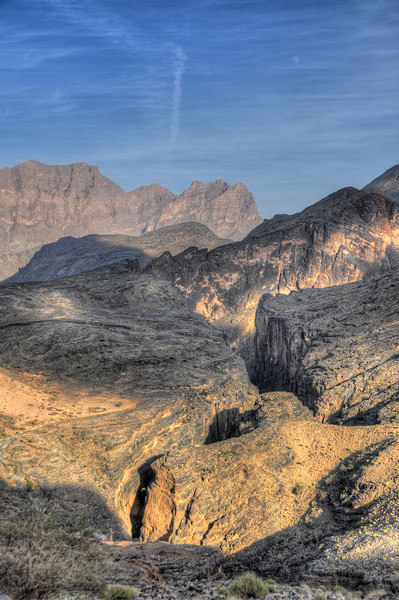 Snake Gorge and Moon - 1. Wadi Bani Awf, Oman