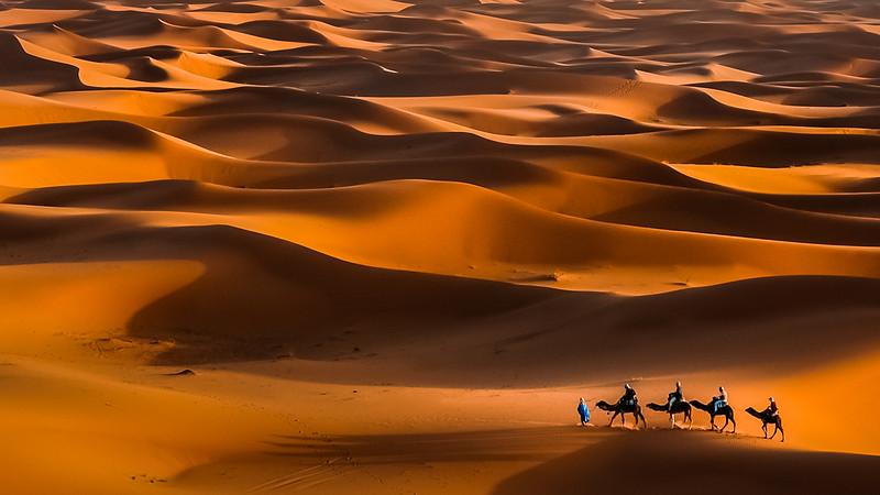 Africa - Morocco - Er Rachidia - Sahara Desert - Merzouga - Sand