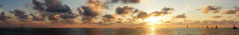Sunset Over the Keys 2 (7 Photo Panorama)