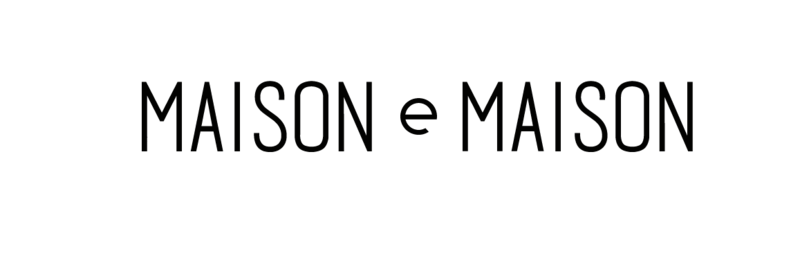 Maison e maison design logo bk