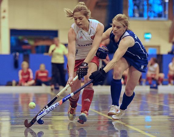Scotland v England. Indoor Hockey at Bells Sports Centre, Perth on 19 January 2014