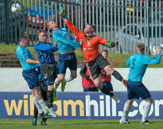 15 August 2015 at Duncansfield, Kilsyth.<br /> William Hill Scottish Cup First Preliminary Round  Harestanes v Girvan