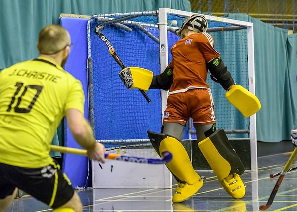 3 February 2018 at Bells Sports Centre, Perth. Scottish Indoor Hockey Gala Finals - <br /> Men's Indoor Nat 1 final   Bromac Kelburne v Inverleith