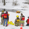 The firefighters hold a rescue training session in Lyndhurst