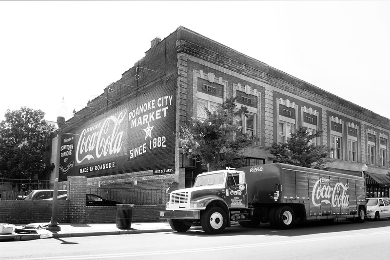 Coca-Cola truck in Roanoke VA - USA