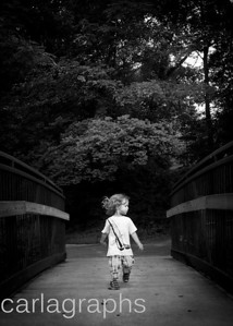 Liam Running on Bridge BW-6594