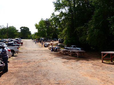 A flea market we went to.  It was very empty this time.